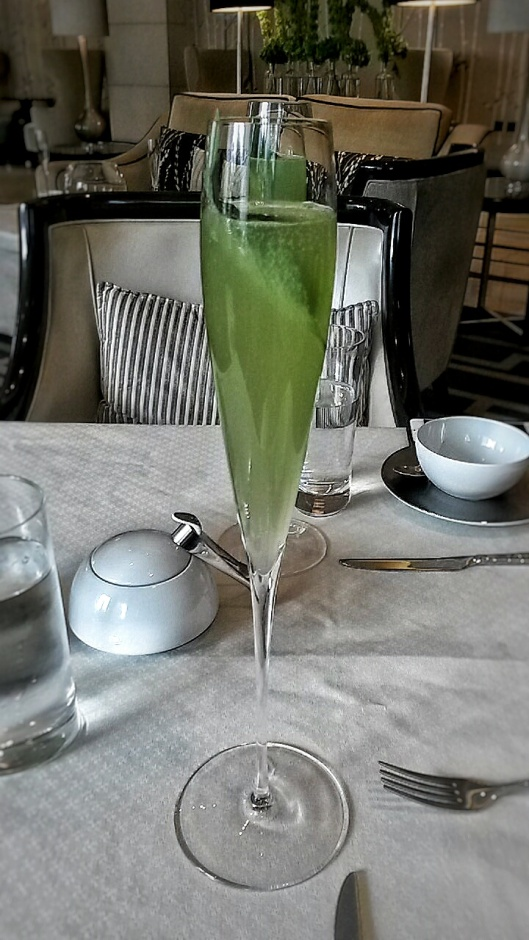 Cucumber non-alcoholic mocktail Intercontinental Hotel