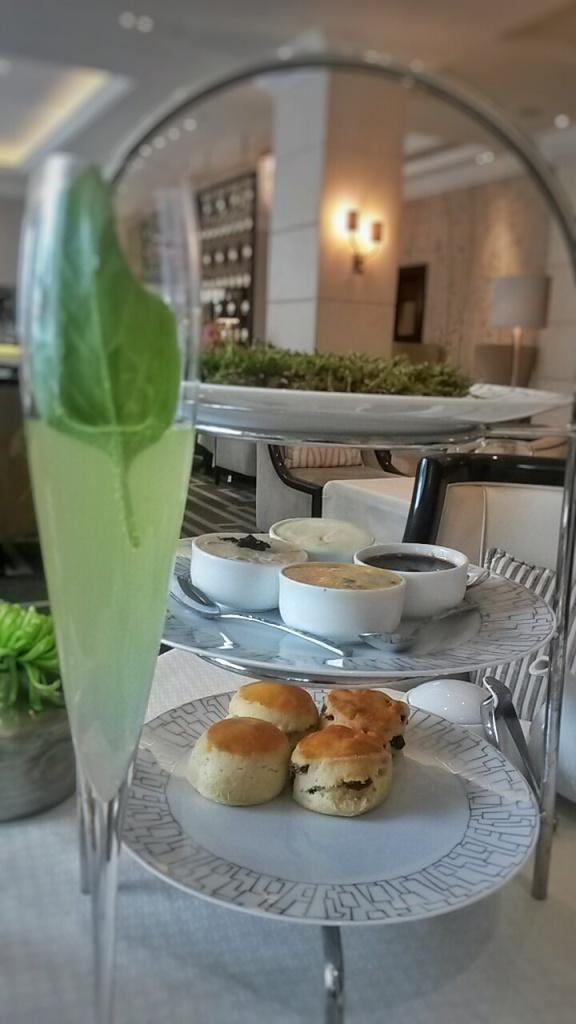 Afternoon tea scones Intercontinental Wellington Lounge
