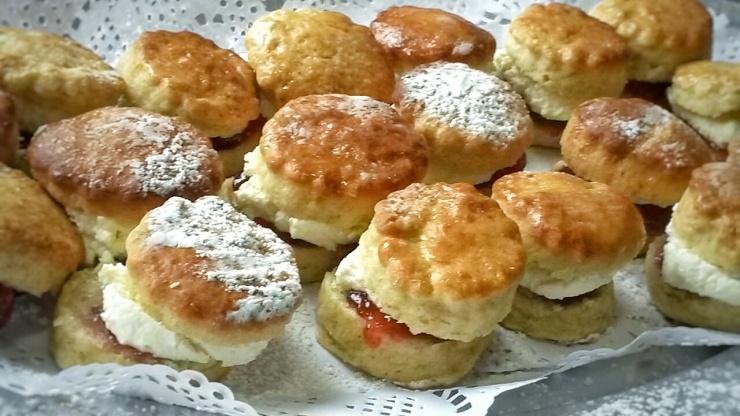 mini scones platter