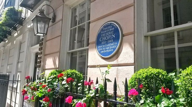 Chopin blue plaque London walking tour