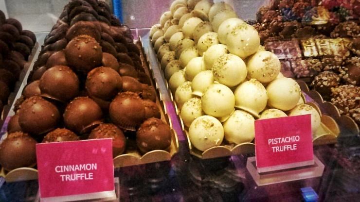 cinnamon pistachio chocolate truffle London