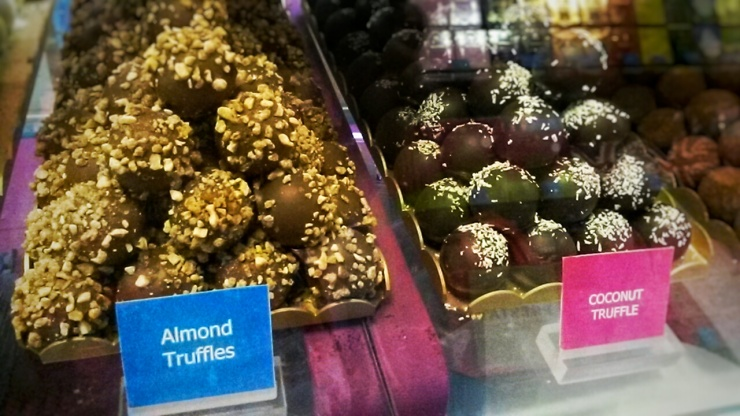 Prestat fine chocolate almond truffles London
