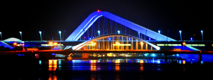 Sheikh Zayed Bridge Abu Dhabi lights