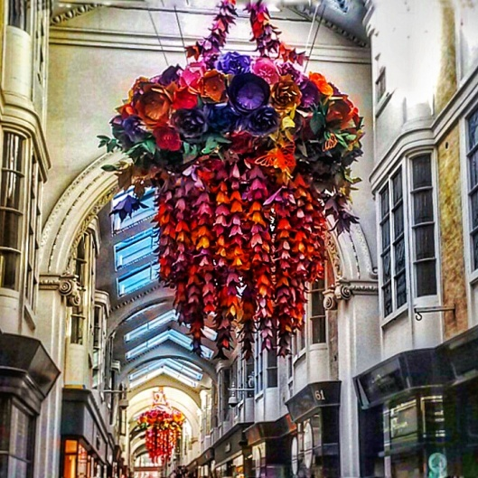 Burlington Arcade floral chandelier London