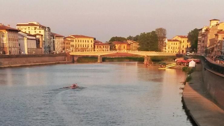 waterside river views Pisa