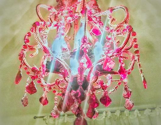 red chandelier Guerrazzi Pisa