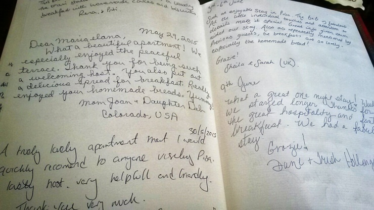 guest book reviews Guerrazzi Bed Breakfast Pisa