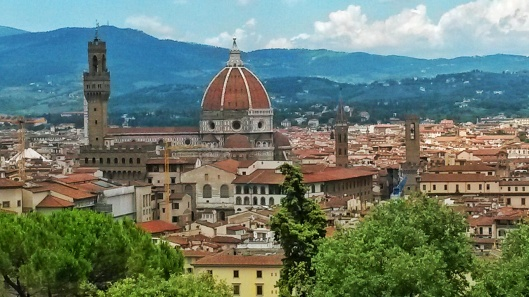 Bardini gardens views of Duomo Florence