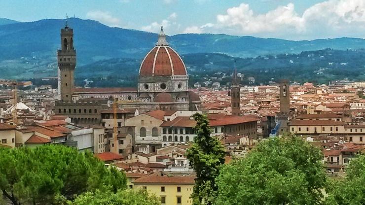 Bardini gardens views of Duomo Florence