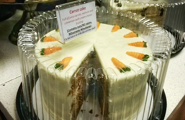 carrot cake Brixton London patisserie