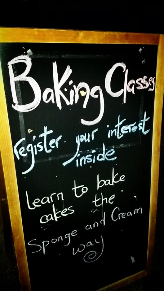 Sponge and Cream Baking Classes London