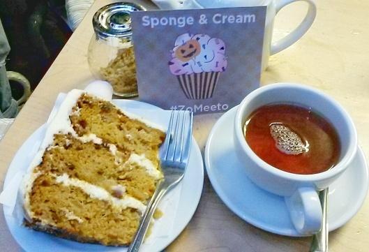 Zomato meet up London Sponge Cream