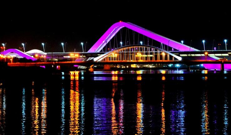 beautiful bridges Abu Dhabi Middle East