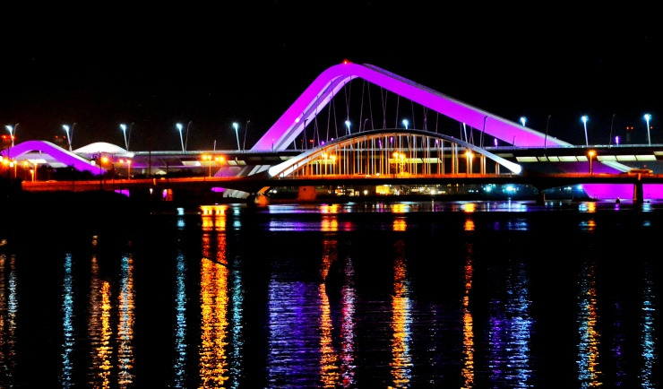beautiful bridges Abu Dhabi Middle East
