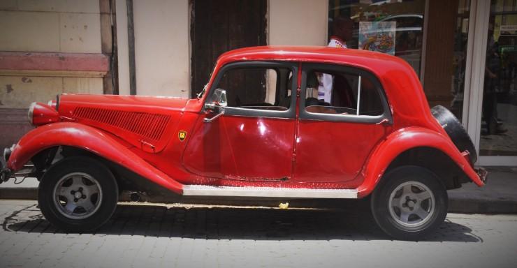 red vintage car Havana