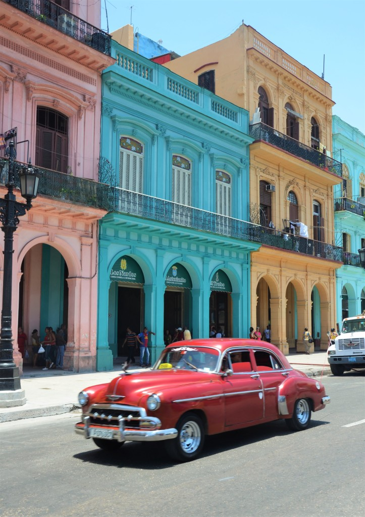colourful car architecture Havana Cuba photos
