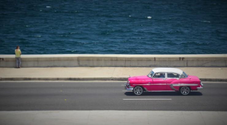 Malecon highway sea Havana Cuba