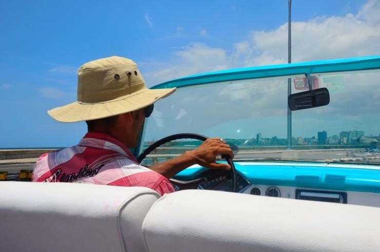 Vintage car taxi tour Havana