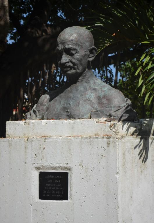 Mahatma Gandhi statue Havana Cuba