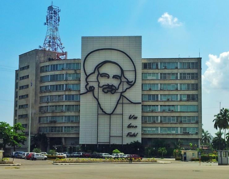 Castro picture Plaza Revolucion Havana