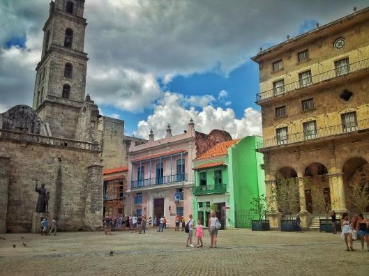 Havana old town Viejo architecture