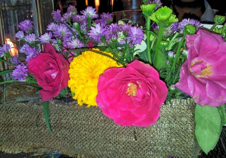 Bali colourful fresh flowers