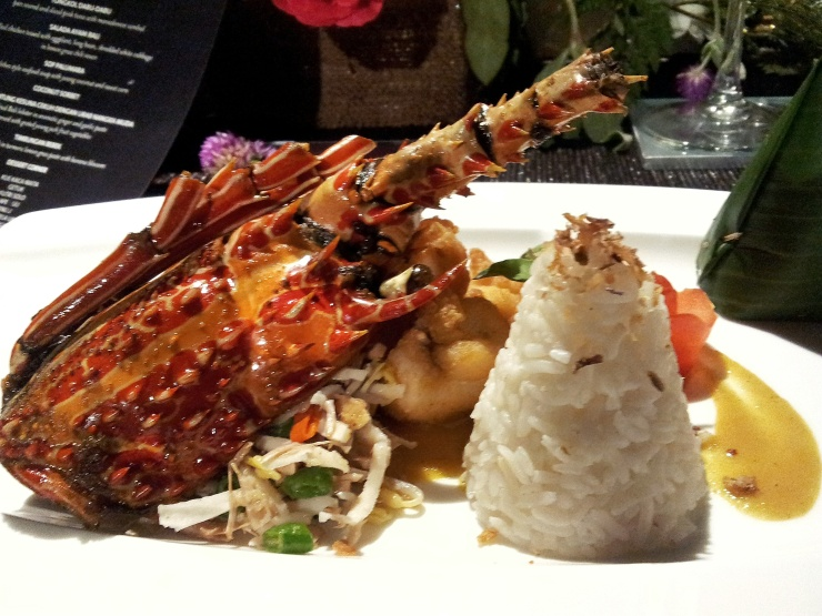 Balinese fried lobster dish