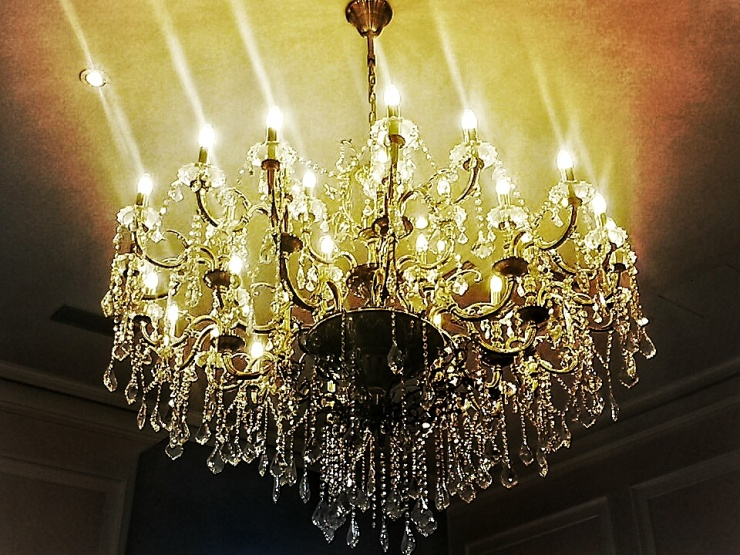 Amba Hotel London chandelier