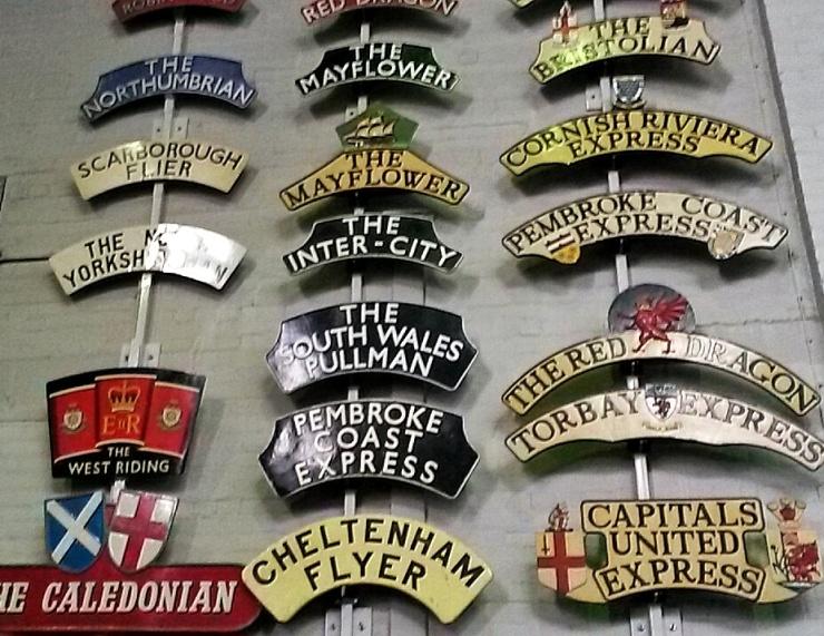 old train signs memorabilia