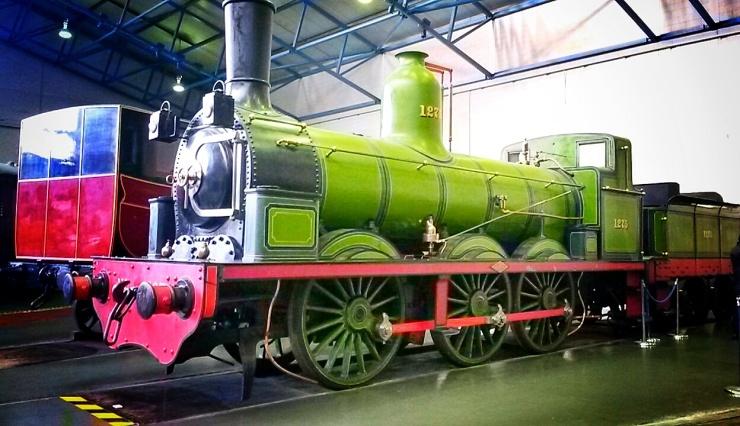 green train railway museum York