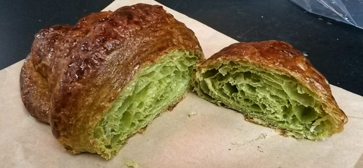 matcha green tea croissant London