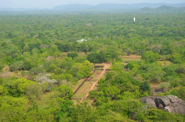 Sigiriya rock view from top