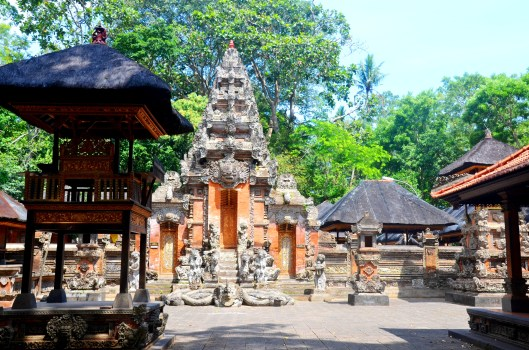 Hindu temples Sacred Monkey Forest