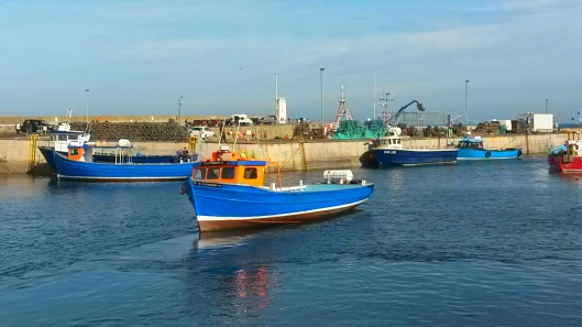 Seahouses seaside fishing village Northumberland