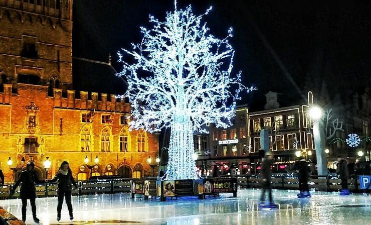 Bruges Christmas Market ice rink