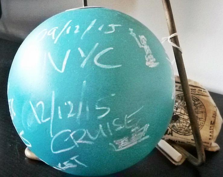 chalboard globe travel gift
