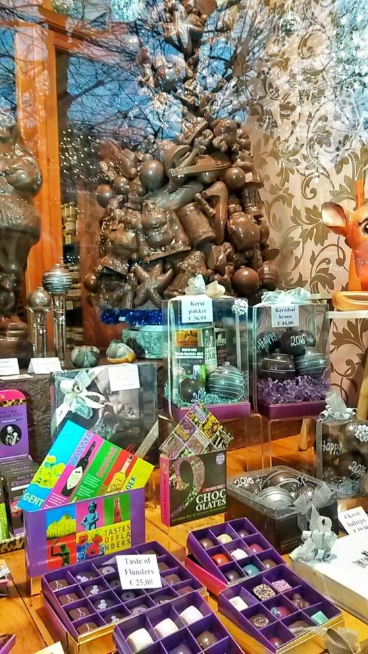 Dumon chocolate window display