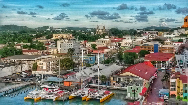 Antigua view from cruise ship