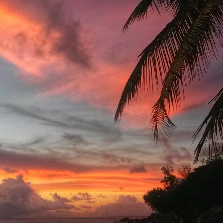 Seychelles sunset Praslin