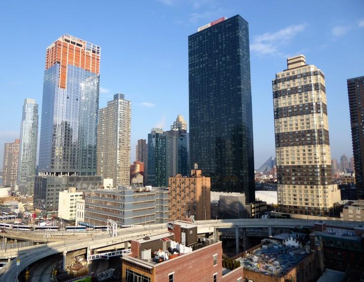 New York City hotel view skyscrapers