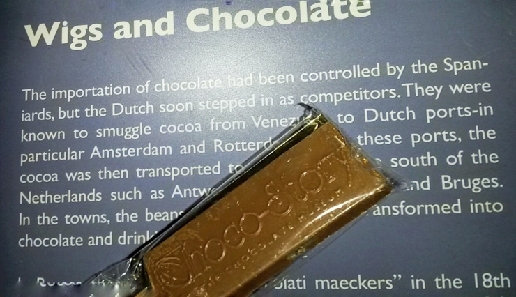 free chocolate bar chocolate museum Bruges