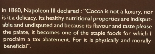 Napoleon quote chocolate museum