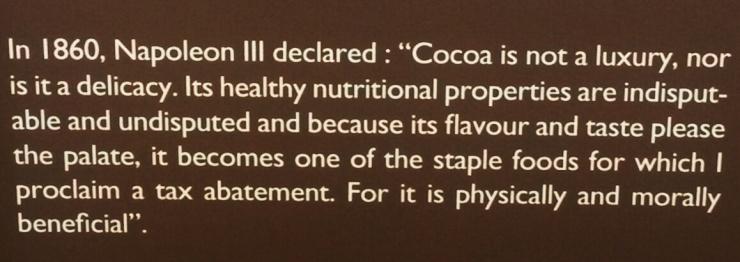 Napoleon quote chocolate museum
