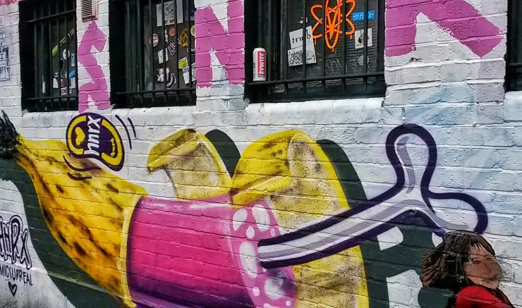 Camden Town Street Art banana painting