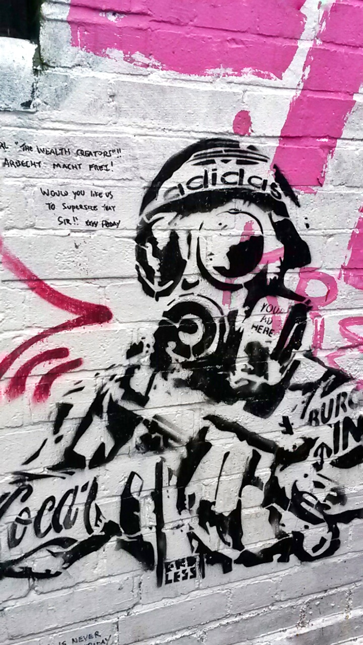 London street art paintings