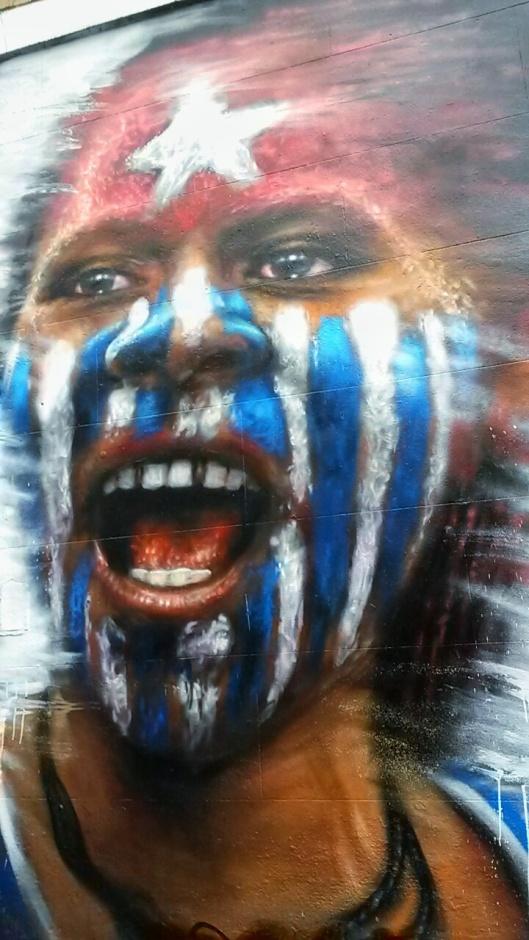 Dale Grimshaw street artist Free West Papua