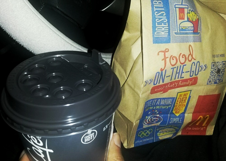 service station McDonalds A20