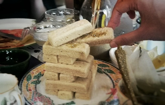 Glitter Shortbread Jenga food games