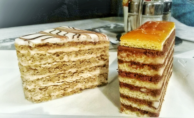 Hungarian Dobos layer cake