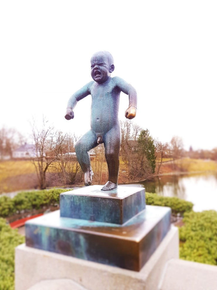 Oslo Angry Boy Statue